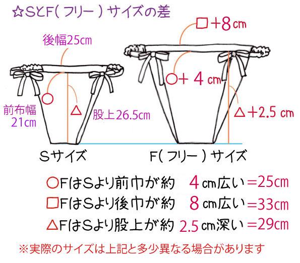 SとFサイズの差図2