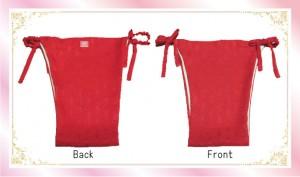 ふんどしばんつ・絹ショーツ赤麻の葉