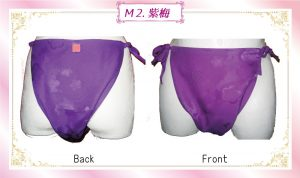 М2..額縁マネキン紫梅
